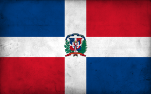 Grunge Flag Dominican Republic by pnkrckr