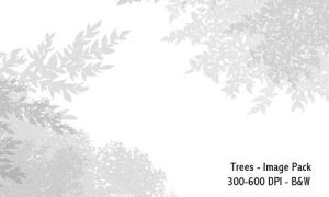 Trees- 300-600DPI by screentones