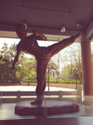 Bruce Lee Statue by Amber2002161