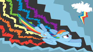 Rainbow Dash, the conqueror of desktops by Ju-Juice
