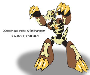 OCtober day three:  Fancharacter, Fossilman by rubybeam