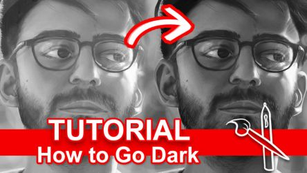 Going Dark W Your Art [Video Tutorial] by sambeawesome