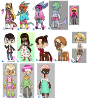 Leftover Adopts: OPEN by lesbian-mermaid