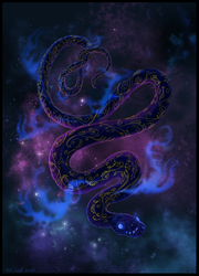 Kyu the Cosmic Snake by jaxxblackfox
