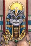 ACEO - The Gaze of Bastet by JRtheMonsterboy