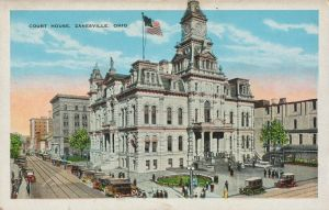 Vintage Ohio - Zanesville Court House by Yesterdays-Paper