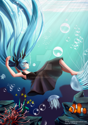 Miku Hatsune - Deep Sea Girl by yinghuo