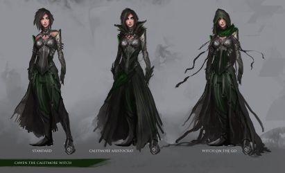 Character Design: Cawen the Caletmore Witch by theDURRRRIAN