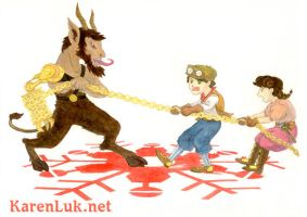 Krampus Tug of War by karenluk