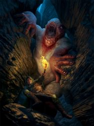 Cave Monster by lpeters