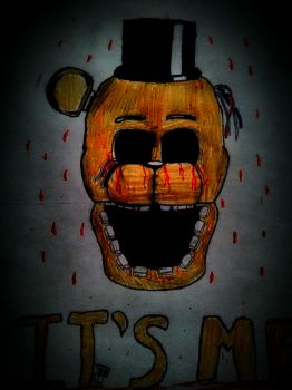 Withered Golden Freddy - FNaF 2 by Migwally-Zero