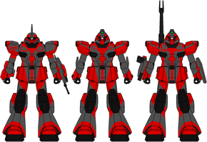 Dragon Fleet Mobile Suits by Zerg170