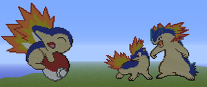 Typhlosion family by LazyLeafeon