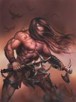 Heavy Metal Barbarian by malverro
