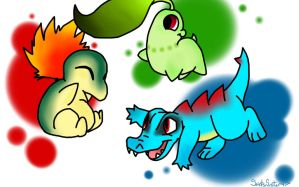 Johto Starters by SaintsSister47
