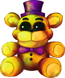 Five Nights at Freddy's FNaF4 - Plush Fredbear by kaizerin