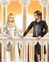 Eowyn and Faramir by Mareishon