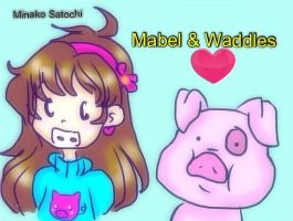 Mabel and Waddles by Minako001