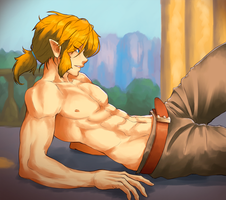Link Shirtless by KawaINDEX