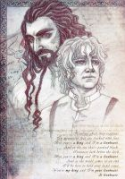 ThorinBilbo - King and Lionheart by IrbisN