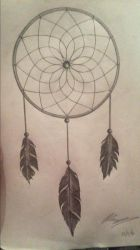 Dream Catcher Tattoo Design by PeteDomoney
