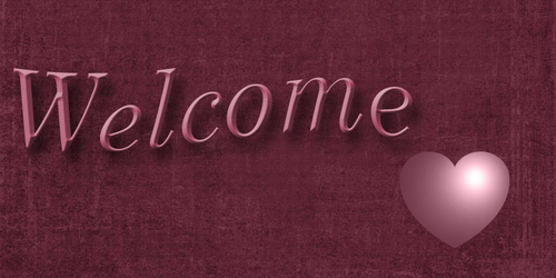 Welcome banner in burgandy by WDWParksGal