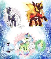 Planet Ponies Adopts, Set 1 (CLOSED) by DesireeU