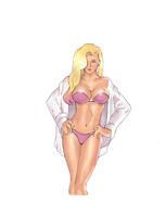 Vicki vale drawing (colored) by electronicdave