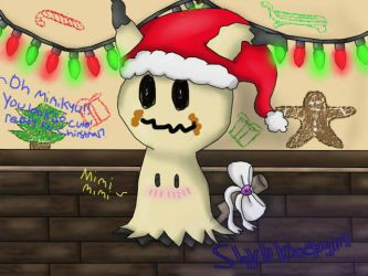Mimikyu First Chirstmas by shybloodygirl