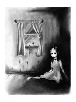 Wooden Girl- Print by Spica2041