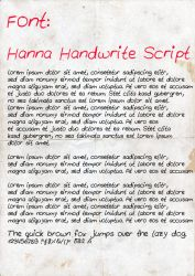 Hanna Handwrite Script by suicidecrew