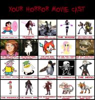 Mi Horror Movie Cast Meme by elfdragon35