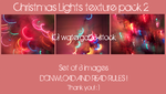Xmas lights texture pack II by watergal28-stock