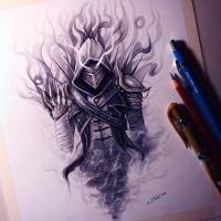 Smoke Assassin Drawing by LethalChris