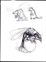 Insects and Rats doodle by Luderdorf
