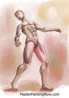 Watercolor Sketch Male Figure by discipleneil777