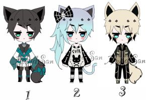 kemonomimi adoptable batch open closed by AS-Adoptables