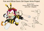 SonicSuperArmsProject  CharmyBee Female(DesignTest by skyshek