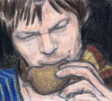 Young Norman Reedus eating a Hato Sable by gagambo