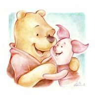 Whinnie the Pooh and Piglet by jeremiasch