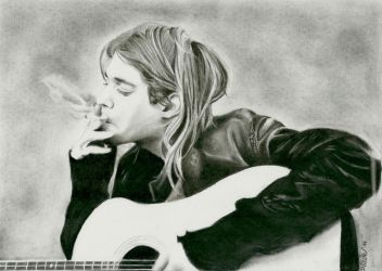 Kurt Cobain - commission by Macca4ever