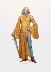 Medieval clothing: bliaut by JaneMere
