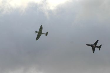 hawk and bbmf spitfire 3 by Sceptre63