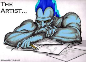 The artist. by Lady-----HADES