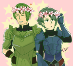 Green Boys by Daerunia