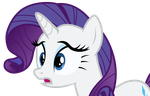 Rarity Looking Worried by Uponia
