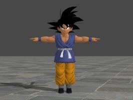 Kid Goku GT from Dragon Ball Xenoverse WIP by KSE25