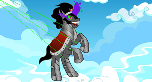 Sombra Being Pulled Away by Eli-J-Brony