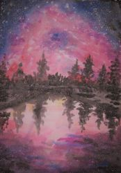wild galaxy painting (updated) by JingTingWei