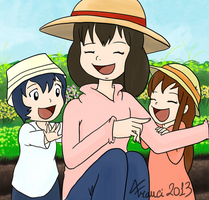 The wolf children Ame and Yuki by Airy-F